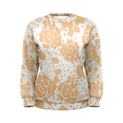 Floral Wallpaper Peach Women s Sweatshirts