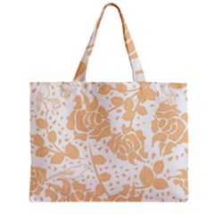 Floral Wallpaper Peach Zipper Tiny Tote Bags