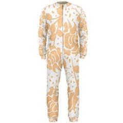 Floral Wallpaper Peach OnePiece Jumpsuit (Men)