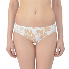 Floral Wallpaper Peach Hipster Bikini Bottoms