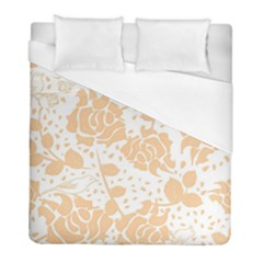 Floral Wallpaper Peach Duvet Cover Single Side (twin Size)