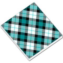 Smart Plaid Teal Small Memo Pads
