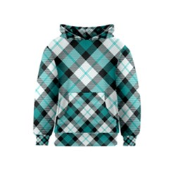 Smart Plaid Teal Kid s Pullover Hoodies