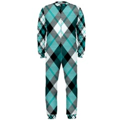 Smart Plaid Teal OnePiece Jumpsuit (Men)