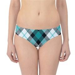 Smart Plaid Teal Hipster Bikini Bottoms