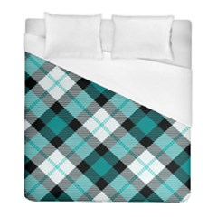 Smart Plaid Teal Duvet Cover Single Side (twin Size)