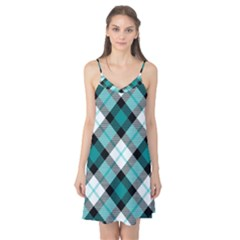 Smart Plaid Teal Camis Nightgown
