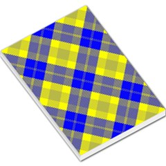 Smart Plaid Blue Yellow Large Memo Pads