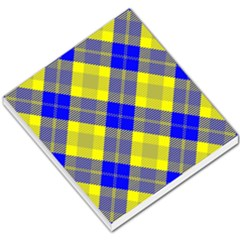 Smart Plaid Blue Yellow Small Memo Pads