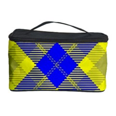 Smart Plaid Blue Yellow Cosmetic Storage Cases
