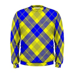 Smart Plaid Blue Yellow Men s Sweatshirts