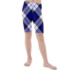Smart Plaid Blue Kid s swimwear