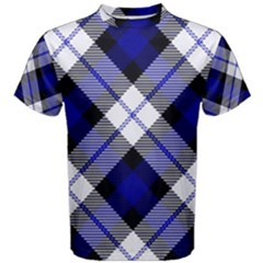 Smart Plaid Blue Men s Cotton Tees