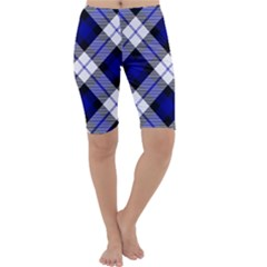 Smart Plaid Blue Cropped Leggings