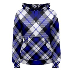 Smart Plaid Blue Women s Pullover Hoodies