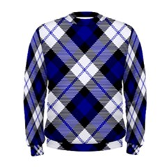 Smart Plaid Blue Men s Sweatshirts
