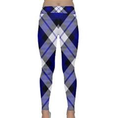 Smart Plaid Blue Yoga Leggings