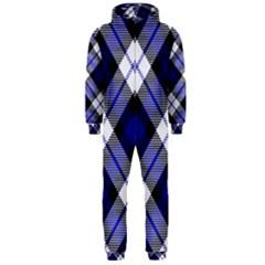 Smart Plaid Blue Hooded Jumpsuit (men)
