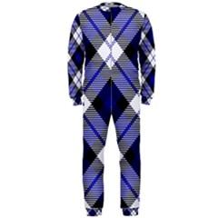 Smart Plaid Blue Onepiece Jumpsuit (men)