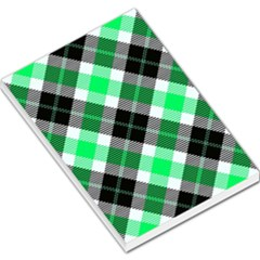 Smart Plaid Green Large Memo Pads