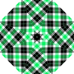 Smart Plaid Green Hook Handle Umbrellas (Large)