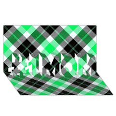 Smart Plaid Green #1 MOM 3D Greeting Cards (8x4)