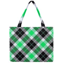 Smart Plaid Green Tiny Tote Bags