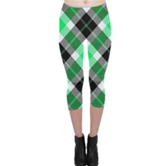 Smart Plaid Green Capri Leggings