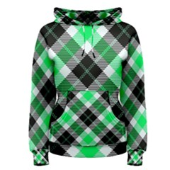 Smart Plaid Green Women s Pullover Hoodies