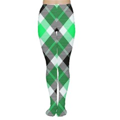 Smart Plaid Green Women s Tights