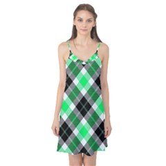 Smart Plaid Green Camis Nightgown