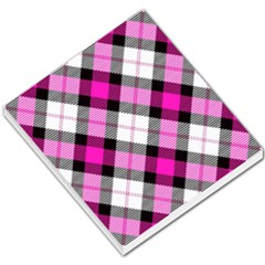 Smart Plaid Hot Pink Small Memo Pads