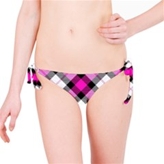 Smart Plaid Hot Pink Bikini Bottoms