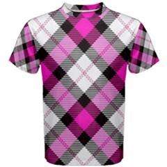Smart Plaid Hot Pink Men s Cotton Tees