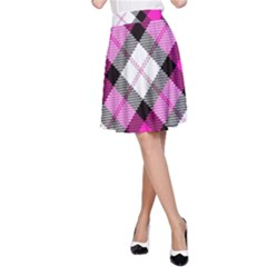 Smart Plaid Hot Pink A Line Skirts