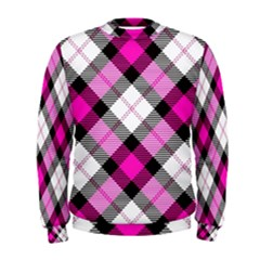 Smart Plaid Hot Pink Men s Sweatshirts
