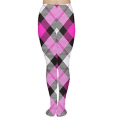 Smart Plaid Hot Pink Women s Tights