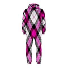 Smart Plaid Hot Pink Hooded Jumpsuit (kids)