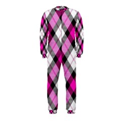 Smart Plaid Hot Pink Onepiece Jumpsuit (kids)