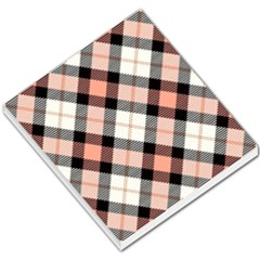 Smart Plaid Peach Small Memo Pads