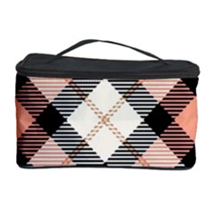 Smart Plaid Peach Cosmetic Storage Cases