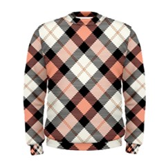 Smart Plaid Peach Men s Sweatshirts