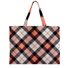 Smart Plaid Peach Zipper Tiny Tote Bags