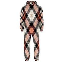 Smart Plaid Peach Hooded Jumpsuit (Men)