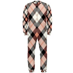 Smart Plaid Peach Onepiece Jumpsuit (men)