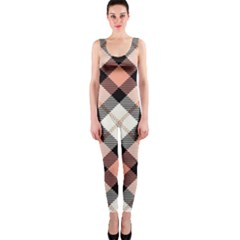 Smart Plaid Peach OnePiece Catsuits