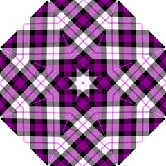 Smart Plaid Purple Hook Handle Umbrellas (Small)