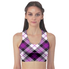 Smart Plaid Purple Sports Bra