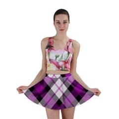 Smart Plaid Purple Mini Skirts