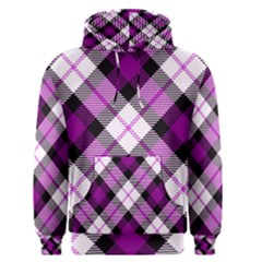 Smart Plaid Purple Men s Pullover Hoodies